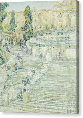 The Spanish Stairs, Rome, 1897 Canvas Print