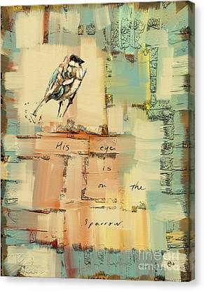 The Sparrow Canvas Print by Carrie Joy Byrnes