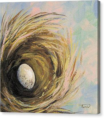 The Speckled Egg Canvas Print by Torrie Smiley