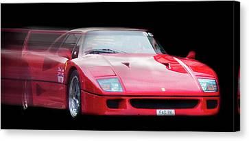The Speed Of A Ferrari Canvas Print