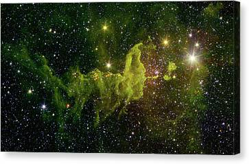 Canvas Print featuring the photograph The Spider And The Fly Nebula by NASA JPL - Caltech