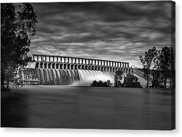 The Spill Canvas Print by Mark Lucey