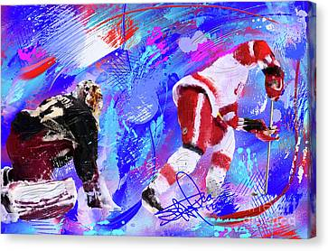 The Spin Todd Bertuzzi Canvas Print by Donald Pavlica