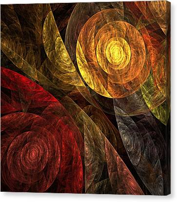 The Spiral Of Life Canvas Print by Oni H