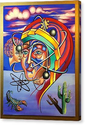 The Spirit Atom / Atom And Eve  Canvas Print