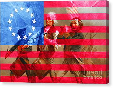 The Spirit Of 76 And The American Flag 20150704 Canvas Print