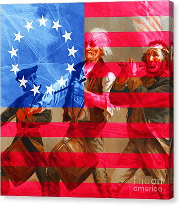 The Spirit Of 76 And The American Flag 20150704square Canvas Print
