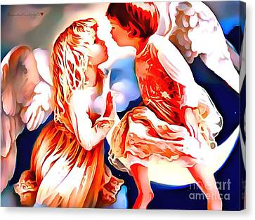 The Spirit Of A First Kiss Canvas Print by Catherine Lott