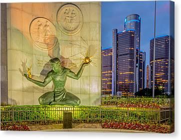 The Spirit Of Detroit  Canvas Print