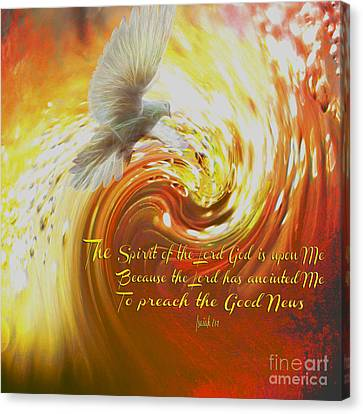 The Spirit Of The Lord God Canvas Print by Beverly Guilliams