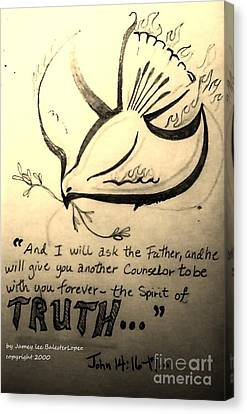 The Spirit Of Truth Canvas Print by Jamey Balester