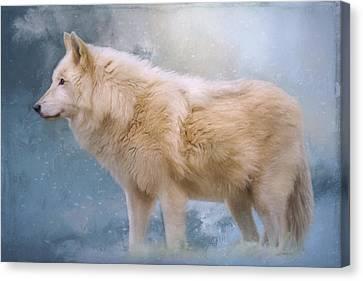 The Spirit Within - Arctic Wolf Art Canvas Print by Jordan Blackstone