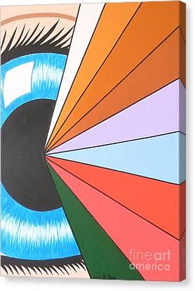 The Spiritual Eye Canvas Print by Teresa St George