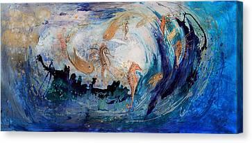 The Splash Of Life 24. The Sea Dance Canvas Print
