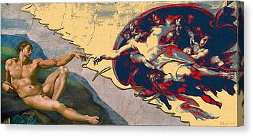 The Creation Of Adam Canvas Print - The Splices - Creation Of Adam by Serge Averbukh