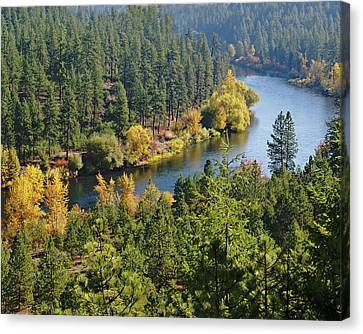 Canvas Print featuring the photograph The Spokane River  by Ben Upham III