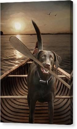 Clayton Canvas Print - The Sporting Dog by Lori Deiter
