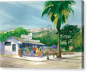 Burger Canvas Print - The Spot by Ray Cole
