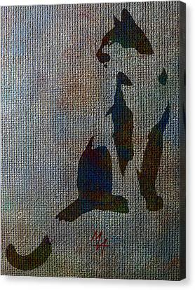 The Spotted Cat Canvas Print by Attila Meszlenyi