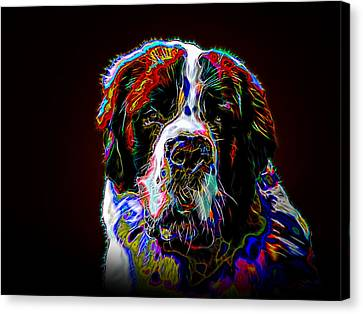 The St. Bernard Canvas Print by Alexey Bazhan