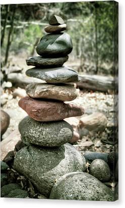 The Stack - Rock Cairn At Buddha Beach - Sedona Canvas Print