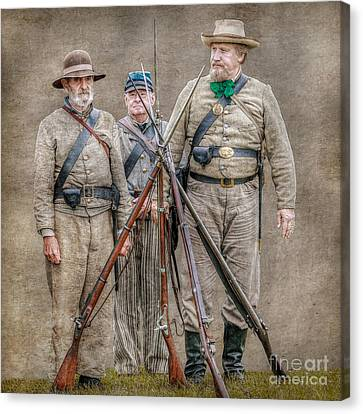 The Stacking Of Arms Canvas Print by Randy Steele