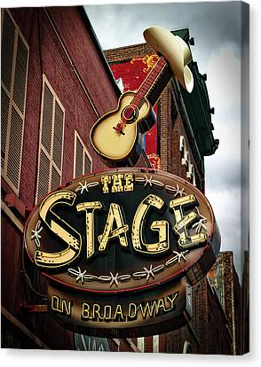The Stage On Broadway Canvas Print