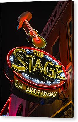 The Stage On Broadway Canvas Print by Stephen Stookey