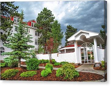 The Stanley Hotel Entrance - Estes Park Colorado Canvas Print by Gregory Ballos