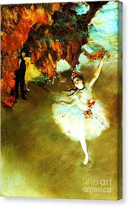 The Star By Edgar Degas Canvas Print by Pg Reproductions