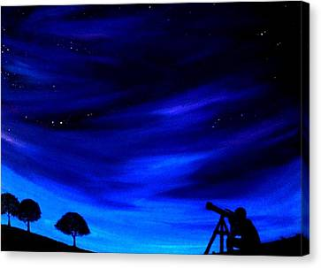 Canvas Print featuring the painting The Star Gazer by Scott Wilmot