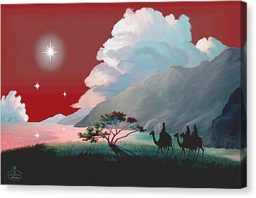 The Star Of Bethlehem Canvas Print by Ron Chambers