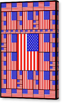 The Stars And Stripes 3 Canvas Print