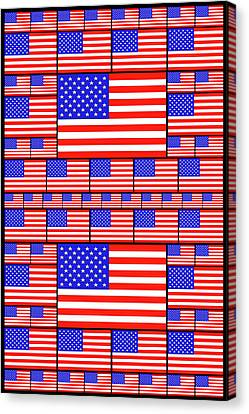 The Stars And Stripes 4 Canvas Print