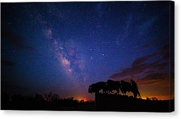 The Stars At Night Are Big And Bright Canvas Print by Stephen Stookey