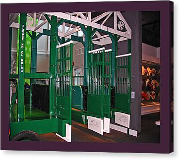 The Starting Gate Display In The Kentucky Derby Museum Canvas Print by Marian Bell