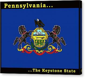 The State Flag Of Pennsylvania Canvas Print by Floyd Snyder