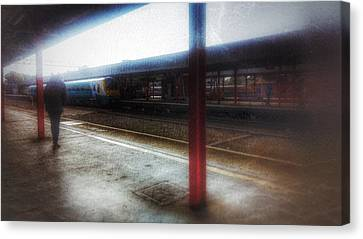 Canvas Print featuring the photograph The Station by Isabella F Abbie Shores FRSA