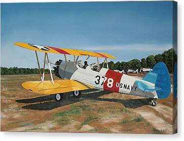 The Stearman Canvas Print by Kenneth Young