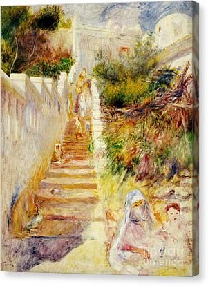 The Steps In Algiers Canvas Print by Pierre Auguste Renoir
