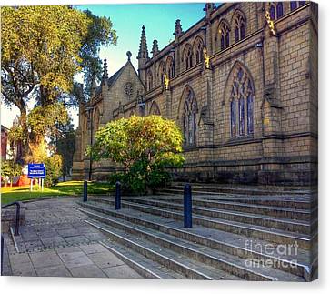 The Steps Of Saint John Minster Canvas Print by Joan-Violet Stretch