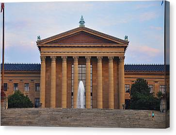 The Steps Of The Philadelphia Museum Of Art Canvas Print by Bill Cannon