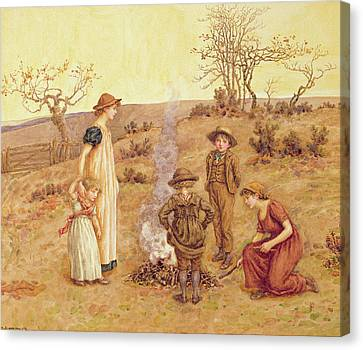 The Stick Fire Canvas Print