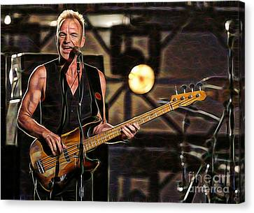 Sting Collection Canvas Print