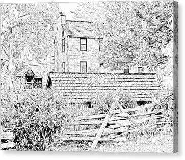 The Stone House At The Oliver Miller Homestead Canvas Print