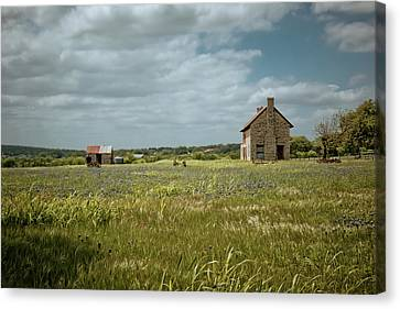 Old Country Roads Canvas Print - The Stone House by Linda Unger