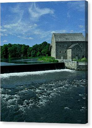 Grist Mill Canvas Print - The Stone Mill by Val Arie