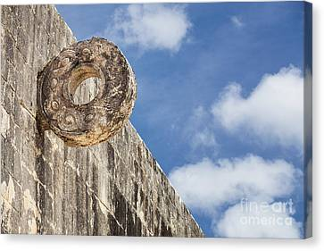 The Stone Ring At The Great Mayan Ball Court Of Chichen Itza Canvas Print