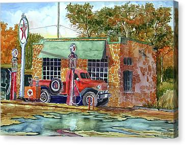 The Stone Texaco Canvas Print