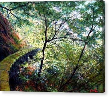The Stone Wall Canvas Print by Jim Gola